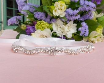 Jeweled headband, Swarovski headband, wedding headband, bridal headband, flower girl, first communion, rhinestone headband