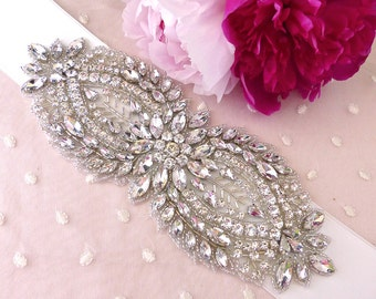 Wedding belt, bridal belt, wedding sash, wedding sash belt, rhinestone belt, jeweled belt, bridal sash belt