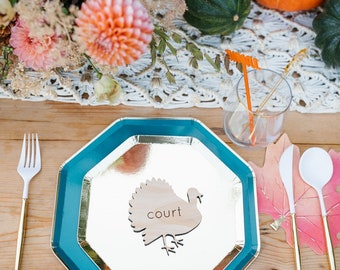 Thanksgiving Table Place Cards   Turkey Place Cards   Fall Place Cards   Leaf Place Cards   Wooden Place Cards