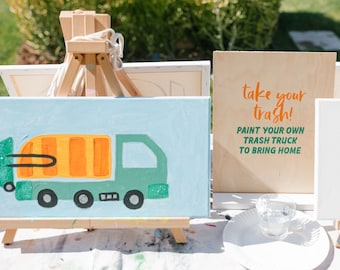 Trash Truck Party Craft Sign   Garbage Party   Trash Party   Trash Bash   Toddler Party   Second Birthday   First Birthday   Dessert Sign