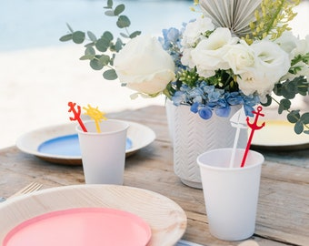 Set of Nautical Drink Stirrers   Sailing Party   Yacht Party   Ocean Party   Pirate Party   Beach Party