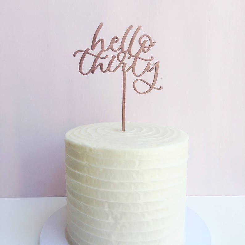 Birthday Cake Topper 30th