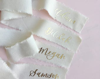 Wedding Place Cards | Place Cards | Calligraphy Place Cards | Placecards | Bridesmaids Ribbons | Ribbon Place Cards | Wedding Ribbons