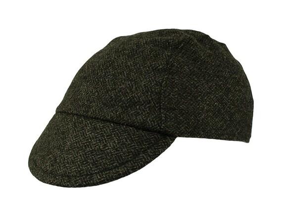 Dark tweed cycling cap handmade cap winter cap bicycle  770caa45d90