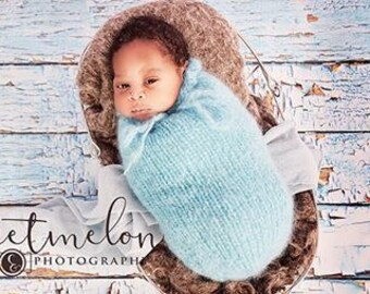Knitted Newborn swaddle sack,  knitted baby cocoon, baby swaddle, UK seller, knitted swaddle sack, newborn prop, photography props,