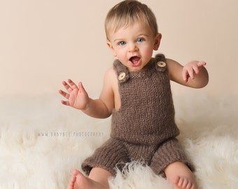 Knitted Baby Dungarees, baby pants, baby trousers, Baby Romper, Newborn to Sitter size pants , baby trousers, UK seller, baby knitted set