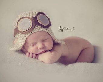 Baby aviator hat with goggles 25e5168fdf2e