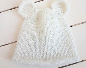 8e3165025ba READY Cream Baby Bear beanie 6-9 months+