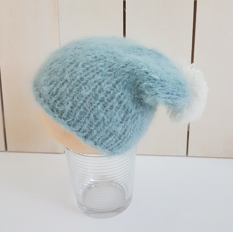 5db7dc76acb Slouchy Baby Beanies in super soft and fuzzy yarn 0-9 month