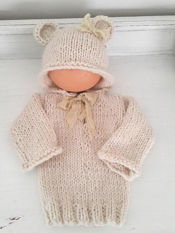 Baby Bear Hoodie Pattern 0-6 months bear hoodie pattern | Etsy