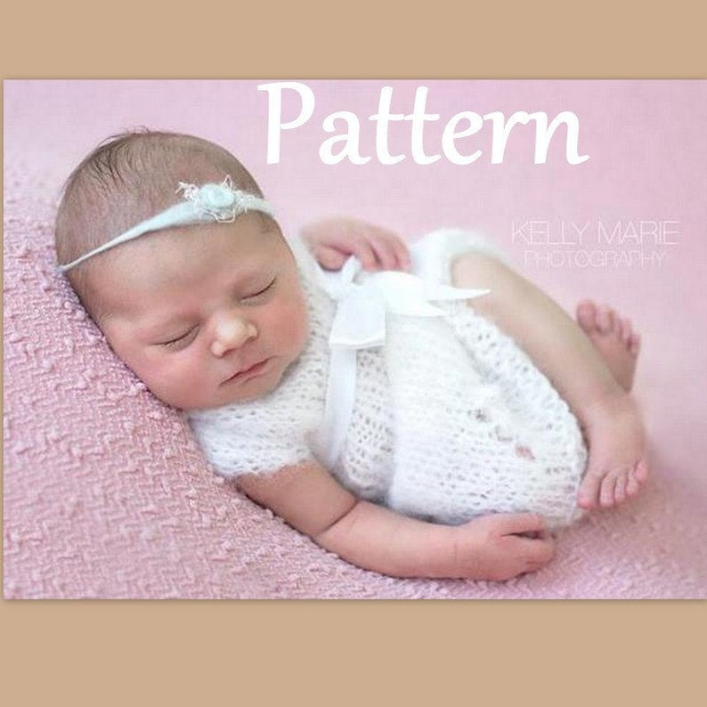 77506460214f1 Knitted Newborn Baby Dress PATTERN Baby winter knitted | Etsy