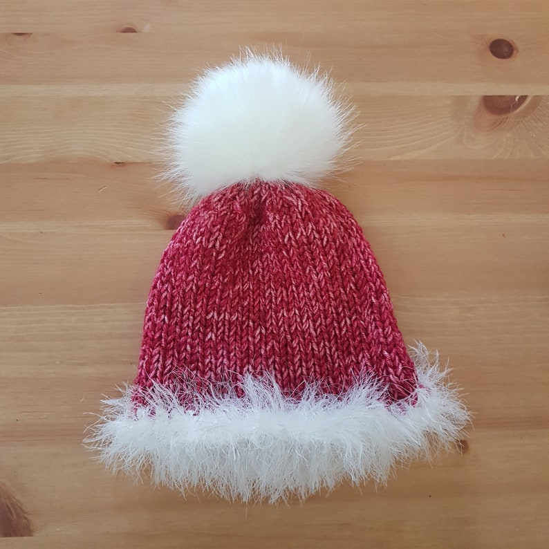 1b9829080f8 READY Red Baby fuzzy winter slouchy beanie with faux fur