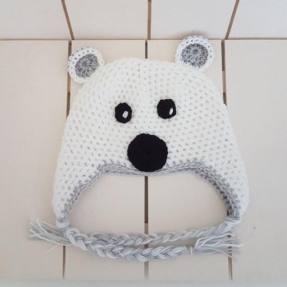 PRÊT au Crochet bébé ours bonnet 6-12 mois tuque oreilles   Etsy 4833213b851