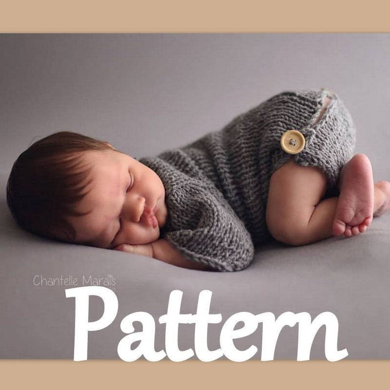 6764d0a35 Newborn Baby romper photo prop knitting PATTERN baby