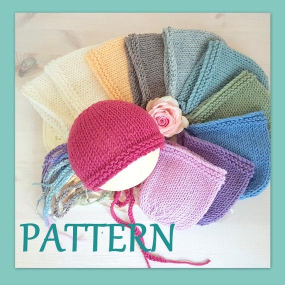 Easy Baby Bonnet Double Knitting Pattern Newborn Bonnet Etsy