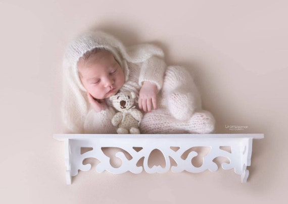 newborn photography prop costume UK newborn props Baby bunny rabbit footed pajama outfit