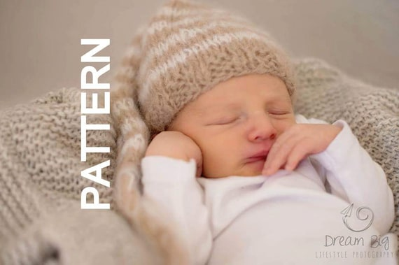 Newborn Baby Elf Hat Knitting Pattern Easy Elf Hat Pattern Etsy