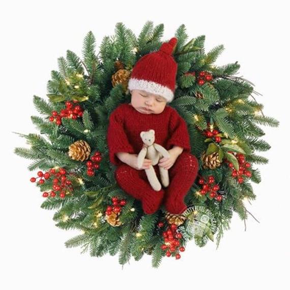 a51cff7468c15 Tenue bébé père Noël costume rouge de Noël bébé vendeur