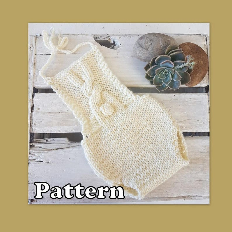 306982b66 Bunny Baby Romper knitting pattern newborn aran yarn knitting