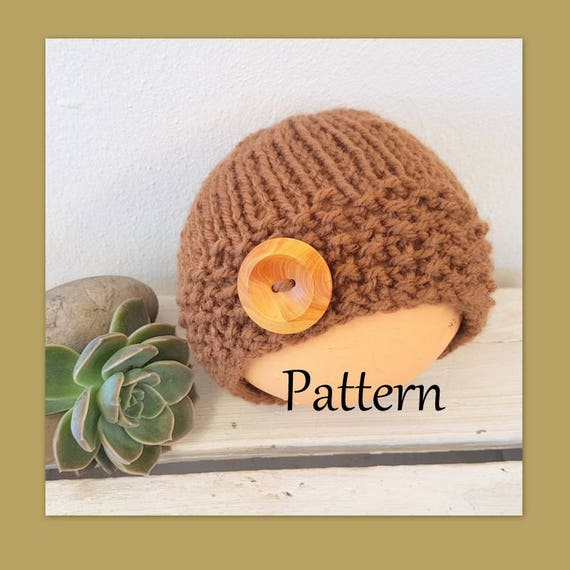 6132bd52116 ... purchase quick and easy baby beanie knitting pattern pdf chunky etsy  15bae fc128