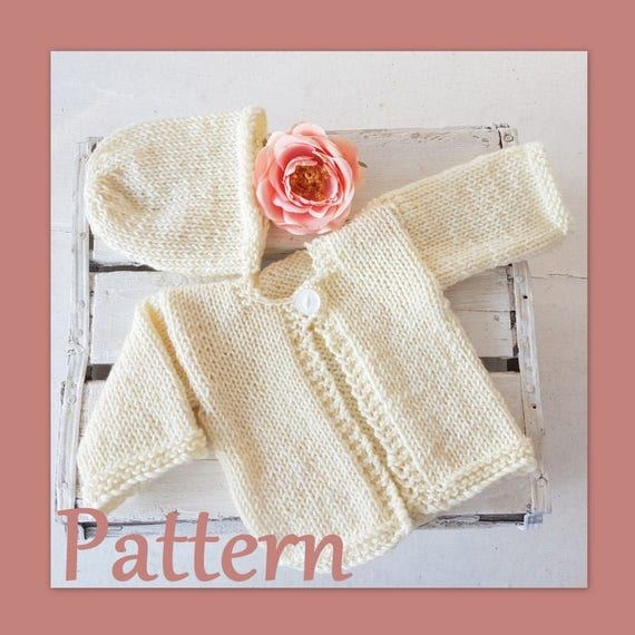 Newborn Baby Cardigan Knitting PATTERN Easy Newborn baby | Etsy
