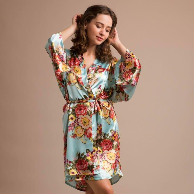 plus size bridesmaid robes plus size floral dress plus size | Etsy