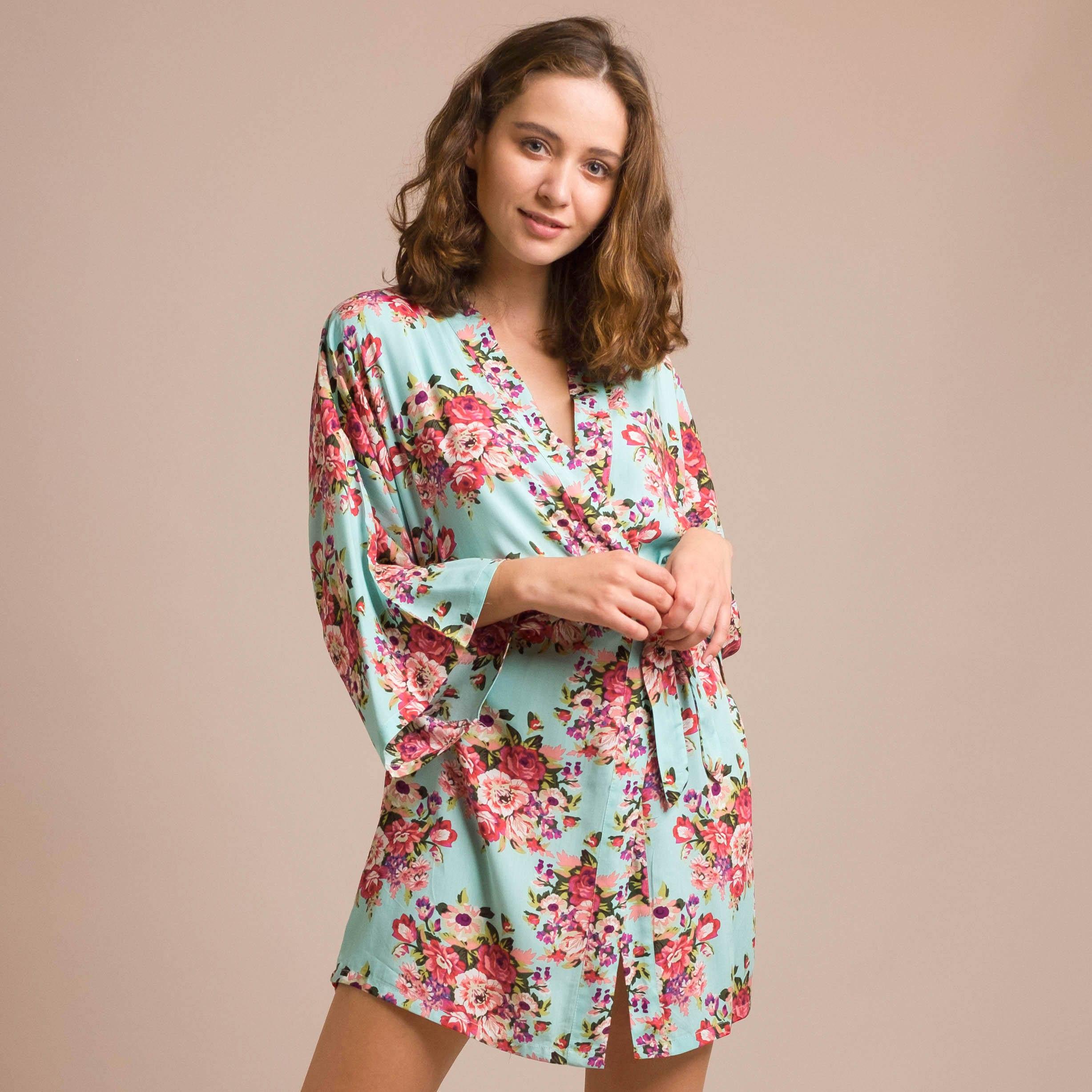 Robe Australia: Mint Bridesmaid Robe Mint Wedding Dress Mint Robe Mint