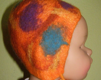 FELTED CAP; cap felted, baby cap, cap, felt cap, felted, wool, merino wool