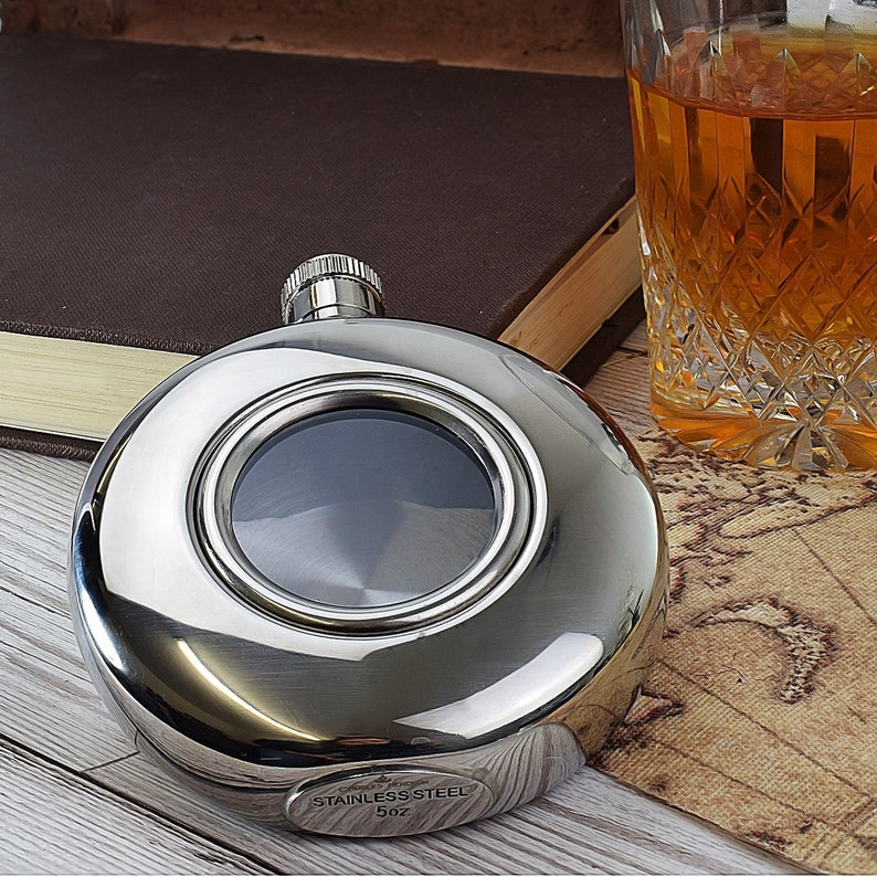 5oz Round Stainless Steel Flask Funnel Perfect for Birthday Party Gift UK TE28