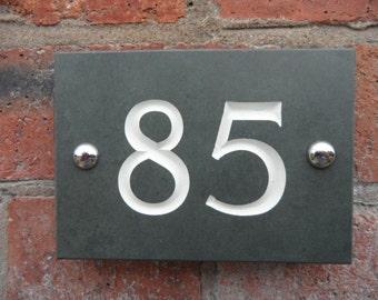 Engraved Slate House Number