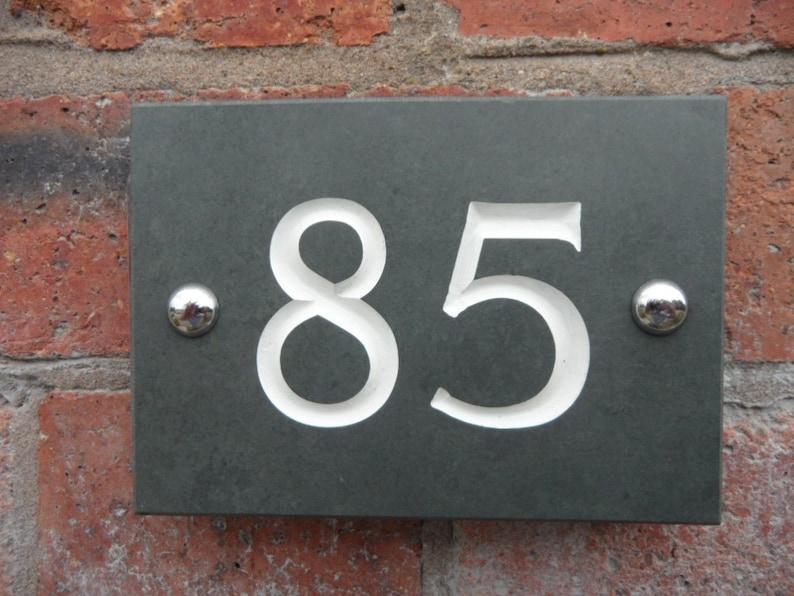 Engraved Slate House Number image 1