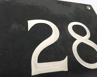 Large Engraved Slate House Number