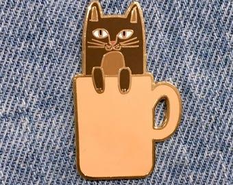 COFFEE CATS Coffee Cat Enamel Pin