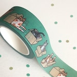 Cats in Boxes Washi Tape