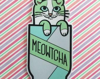 Meowtcha Vinyl Sticker