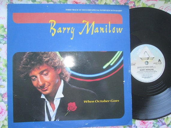 Barry Manilow 10 Vinyl Ep When October Goes Free Etsy