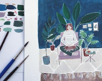 Portrait - custom watercolour portrait