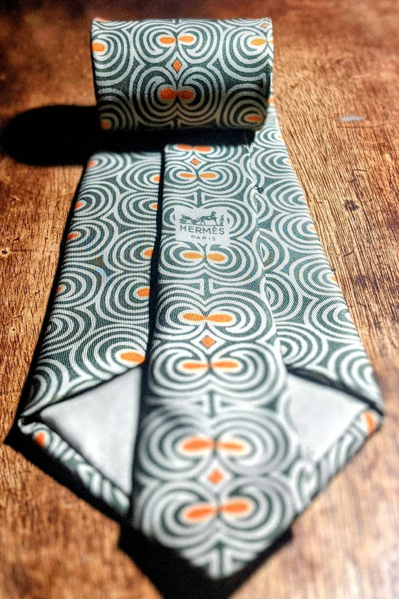 Vintage Hermes 100% Silk Necktie - image 3