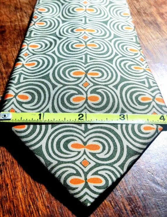 Vintage Hermes 100% Silk Necktie - image 7