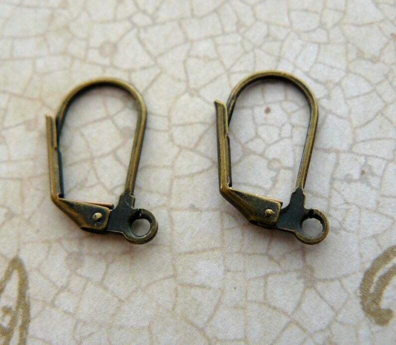 Dark Blue Teardrop Earrings Cobalt Glass Bead Earrings Romantic Jewelry Victorian Inspired Blue and Brass Vintage Style Dangles