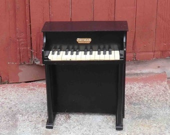 Vintage  Child's Toy Piano, Jaymar,Upright Piano, All keys Work,1950s, 20 Inchs Tall