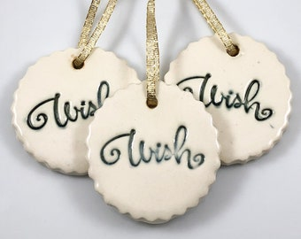 WISH Ornament, Cookie ornament, ceramic ornaments