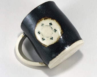 SALE Snowflake Galaxy mug, handmade mug, ceramic mug, coffee mug