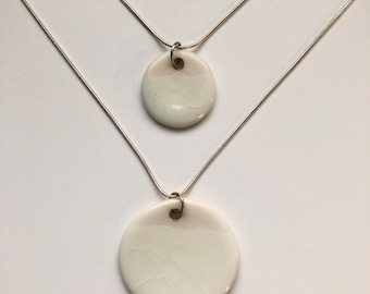 Porcelain Drop Pendant, porcelain necklace, ceramic pendant
