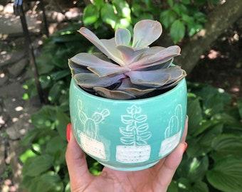 Handmade Ceramic Planter, succulent planter