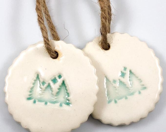 Featured listing image: Christmas Tree Ornament, handmade ornament, tree, ceramic ornament