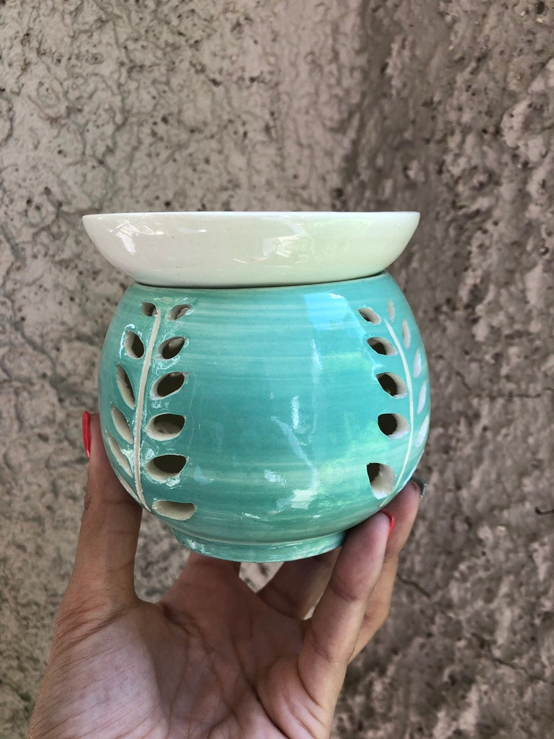 Oil Diffuser Oil Warmer Luminary Handmade Ceramic Lantern