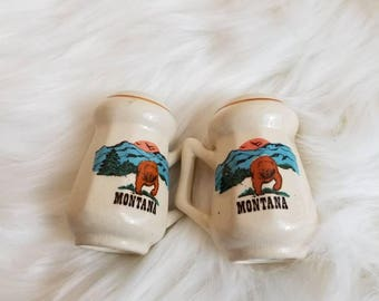 Vintage Montana Salt & Pepper Shakers // Bear Shakers