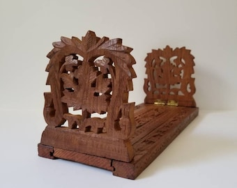 Vintage Wooden Expandable Bookends / Boho Home