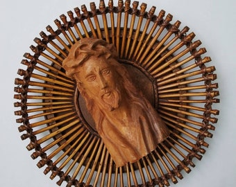 Vintage Wooden Jesus Crown of Thorns